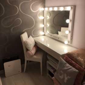 Купить гримерное Зеркало для макияжа с подсветкой Caravella в магазине makeupmirror.ru