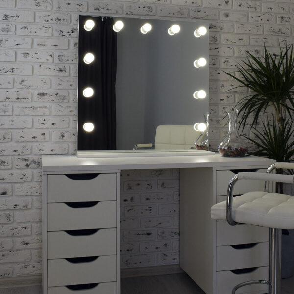 Гримерное зеркало с подсветкой Hi-Tech 80x80_0010_DSC_0582