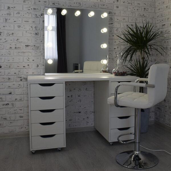 Гримерное зеркало с подсветкой Hi-Tech 80x80_0011_DSC_0570