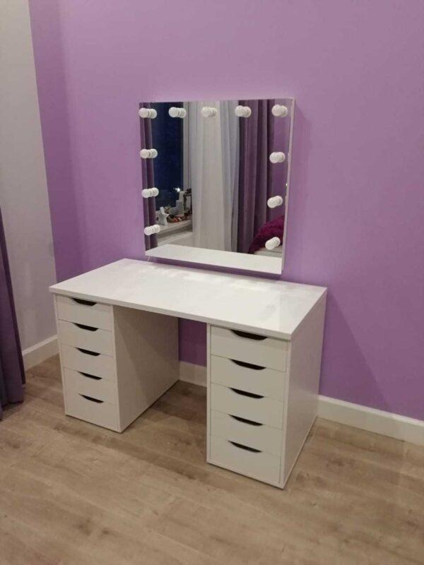Гримерный стол с зеркалом и тумбами IBIZA