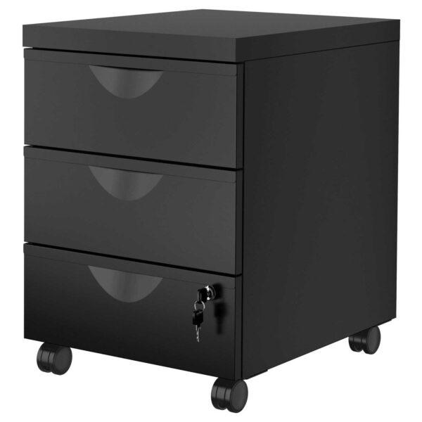 Фотография черной тумбы для гримерной или салона под стол за 6540 руб от CARAVELLA На MakeupMirror