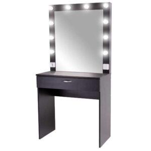Ferran гримерный столик с зеркалом черный