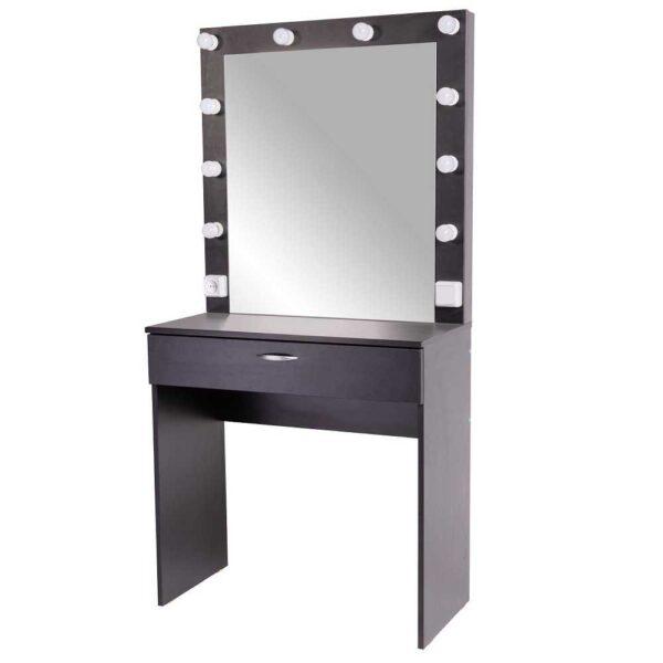 Ferran гримерный столик с зеркалом черный комплект