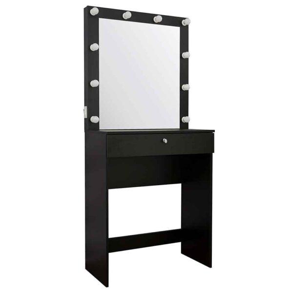 Гримерный-столик-черный-с-1-ящиком-6900-Makeupmirror