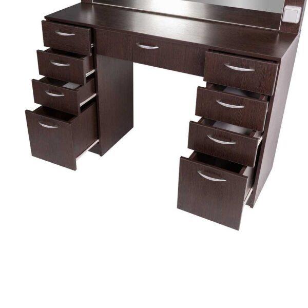 Мадрид гримерный столу с 9 ящиками на makeupmirror сбоку