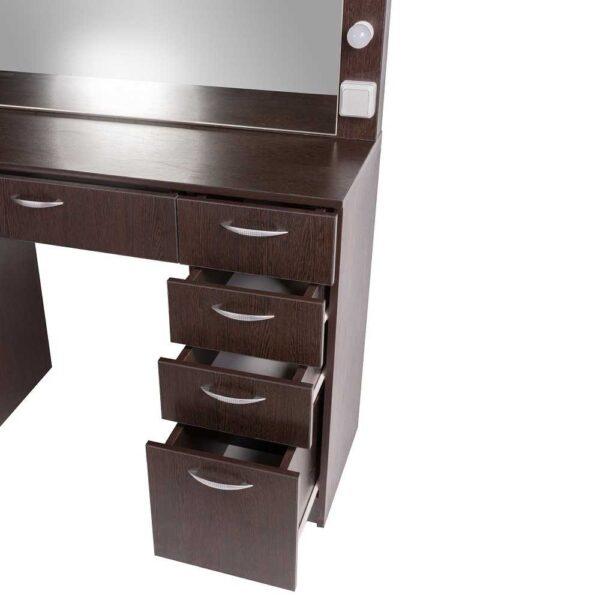 Мадрид гримерный столу с 9 ящиками на makeupmirror вид ящиков в близи