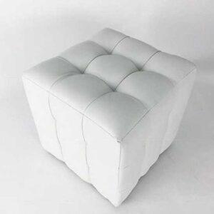 Пуфик белого цвета SNOW CUBE