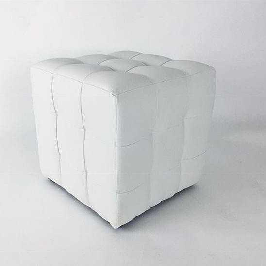 Пуфик белого цвета SNOW CUBE вид сбоку