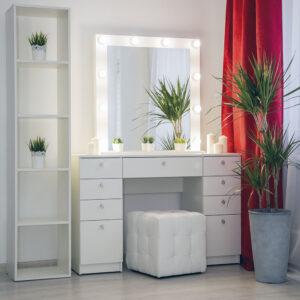 Гримерный стол Гарда в белом цвете