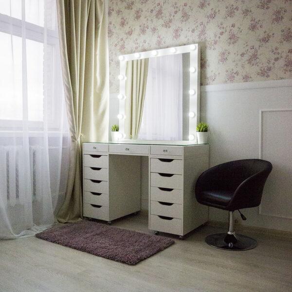 Гримерный стол БАРИ со стеклянной столешницей_0001_L59A7747