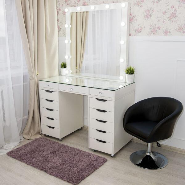 Гримерный стол БАРИ со стеклянной столешницей_0016_L59A7724
