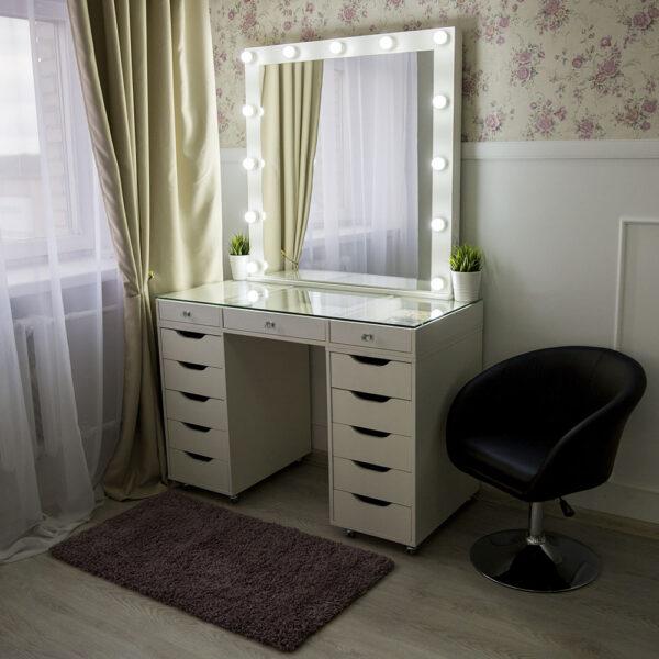 Гримерный стол БАРИ со стеклянной столешницей_0017_L59A7722