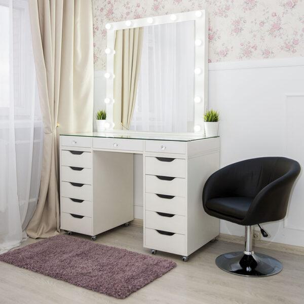 Гримерный стол БАРИ со стеклянной столешницей_0019_L59A7720