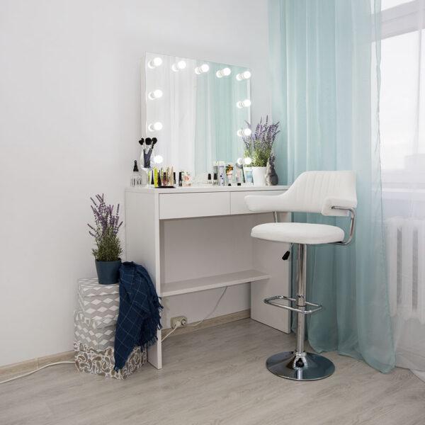 Гримерный стол БЕРНЕН с подсветкой белый_0004_L59A7692
