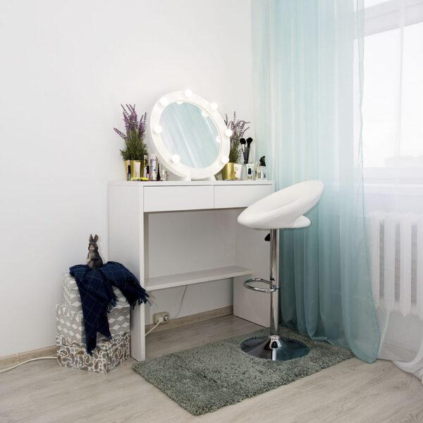 Гримерный столик Бордо с круглым зеркалом _0001_L59A7716