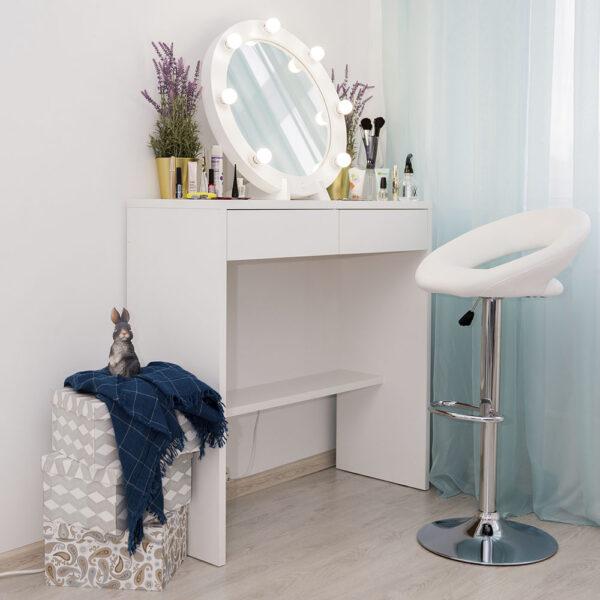 Гримерный столик Бордо с круглым зеркалом _0013_L59A7704