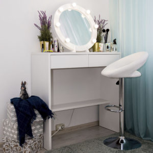 Гримерный столик Бордо с круглым зеркалом _0015_L59A7718