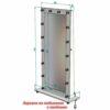 Размеры столови и зеркал _0008_зеркало на подставке с колёсами