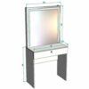 Гримерный стол Неаполь со светодиодным зеркалом