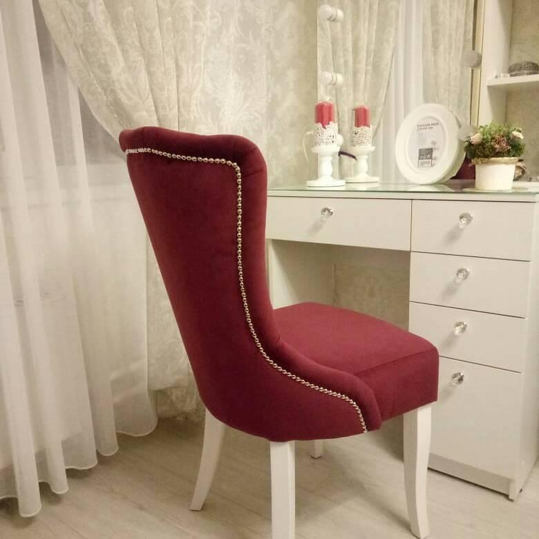 Кресло ручной работы цвет Кардинал