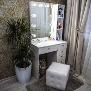 Гримерный стол АВОЛА шириной 80 см (1)