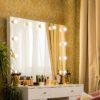 Гримерное зеркало шириной 100х80 Миранда с подсветкой