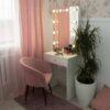 Гримерный столик Сиерра компактный с зеркалом и подсвтекой-2