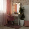 Гримерный столик гРАНЕЛЬ компактный с зеркалом и подсвтекой-3