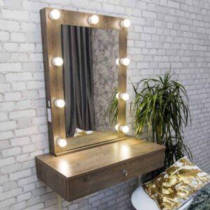 Гримерный столик с зеркалом 60х80 ПЕНСИЛЬВАНИЯ_0000_L59A8648